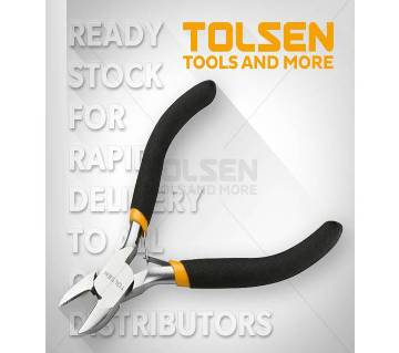 "Tolsen Mini Combination Pliers (4.5"") 10030 Bi-Dipped Handle"