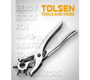 """Tolsen Revolving Leather Punch Pliers (9"""") 10101"""