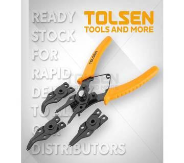 Tolsen 4pcs Combination Circlip Pliers Set 6 inch