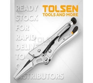 "Tolsen 9"" Long Needle Nose Locking Clamp Pliers 10053"