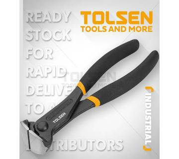 """Tolsen End Cutting Pincer 6"""" Dipped Handle 10043"""