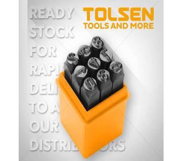 Tolsen 9PCS Steel Number Figure Punch Set (3mm) 25094