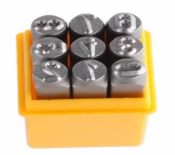 Tolsen 9PCS Steel Number Figure Punch Set (6mm) 25097