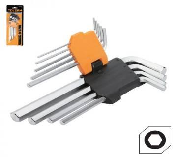 Tolsen 9PCS Long Arm Hex Key Set / 20048