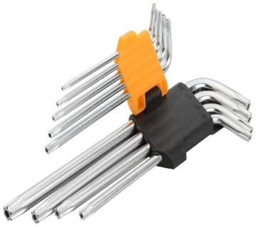 Tolsen 9PCS Torx Long Arm Allen Hex Key Set / 20056