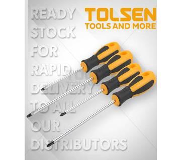Tolsen 4Pcs Screwdriver Set with comfortable grip 20015