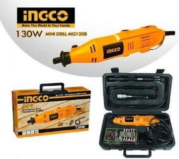 Ingco Mini Drill/Grinder 130W with 52pcs Accessories MG1308