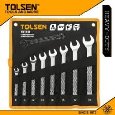 Tolsen 8 Pcs Combination Spanners Set