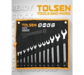 Tolsen 12 Pcs Combination Spanners Set