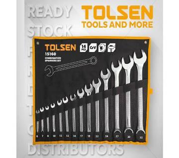 Tolsen 14 Pcs Combination Spanners Set
