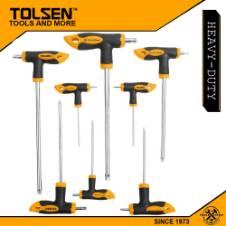 Tolsen 8 Pcs Torx T-Handle Screwdriver Set