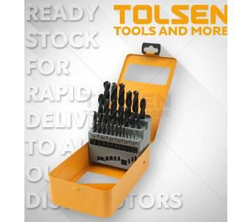 Tolsen 25 Pcs HSS Twist Drill Bits Set