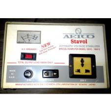 AETCO Stavol Japan Automatic Voltage Stabilizer (AVR) 1000VA/1 KVA Single Phase with Electronic Servo Motor System & Surge Protection from UAE