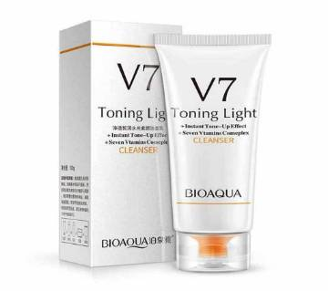 BIOAQUA  V7  Tonight Light Facewash  100g   Chaina