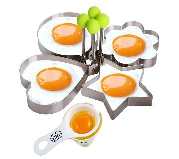 Stainless steel egg shaper set