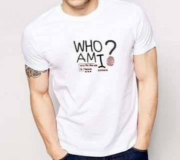 WHI AM I HALF SLEEVE COTTON T SHIRT FOR MEN