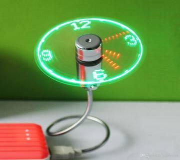 LED লাইট ক্লক USB ফ্যান