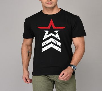 Cotton Half Sleeve Tshirt For Men