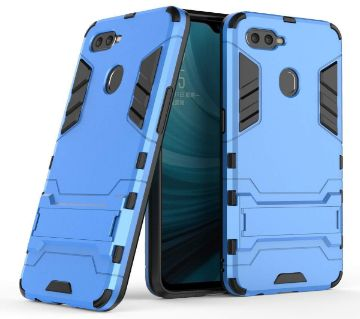 Oppo A7 Armor Shockproof Phone Back Cover - Blue