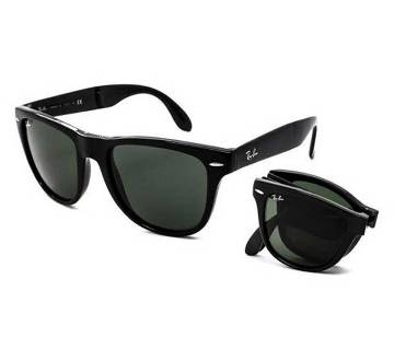 Ray-Ban Black Folding Sunglasses for Men