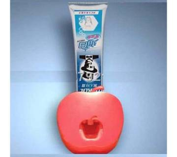 Auto toothpaste squeezing device apple shaped
