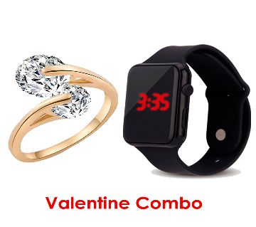 MENS WATCH AND WOMENS FINGER RING COMBO OFFER