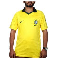 2018 World Cup Brazil home Half Sleeve Jersey (Copy)