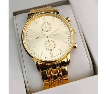 Mens  Watch (Golden colour)
