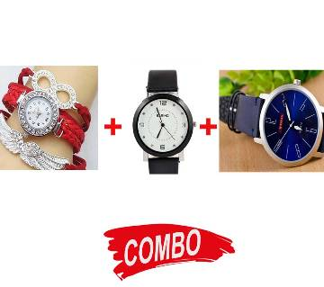 Titan Gents WristWatch (Copy) + Ladies WristWatch + Bariho Ladies Wristwatch - Combo Offer