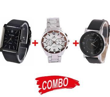 Bariho Gents WristWatch (Copy)+Titan Gents WristWatch (Copy)+ORLANDO Gents WristWatch (Copy) - Combo Offer