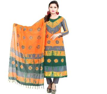Unstitched Cotton Salwar Kameez For Womens