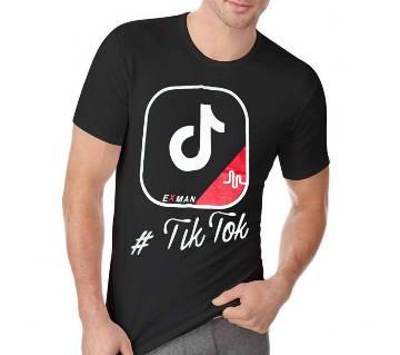 Tik Tok ম্যানস কটন টি-শার্ট