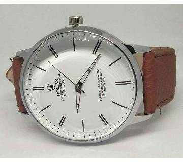 Rolex lather menz watch (copy)