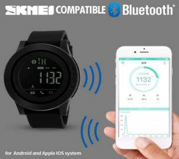 SKMEI 1255 Men Women Smart Watch Calorie Pedometer Multi-Functions Remote Camera Hours 50M Waterproof Digital Men