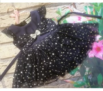 Baby Girls Party Frock Black Color