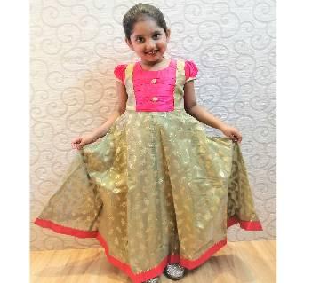 Katan & Silk Gown for Girls
