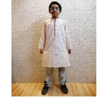 Lt Pink Cotton Panjabi for Boys