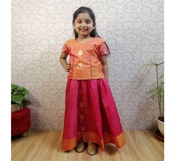 Silk Skirt Tops for Girls|(7-10Y)