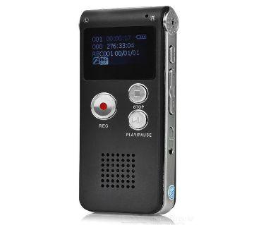 ডিজিটাল রিচার্জেবল ভয়েজ রেকর্ডার উইথ Mp3 প্লেয়ার 8GB