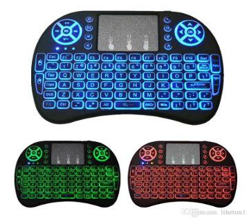 Mini LED Light Wireless Keyboard with Touchpad