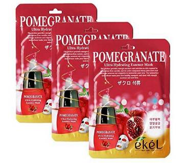 Ultra Hydrating Moisture Essence Mask Ekel Pomegranate (25mlx5 Packs) Korea