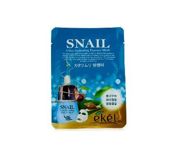 Ultra Hydrating Moisture Essence Mask Ekel Snail (25mlx5 Packs) Korea
