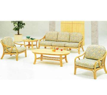 Cane Sofa Set 5 Seat