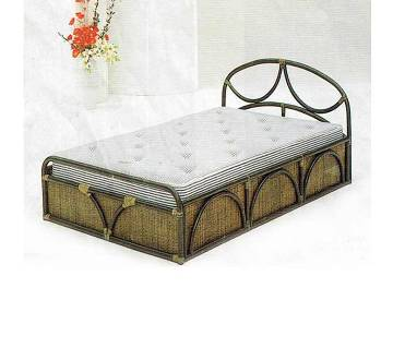 Cane double bed