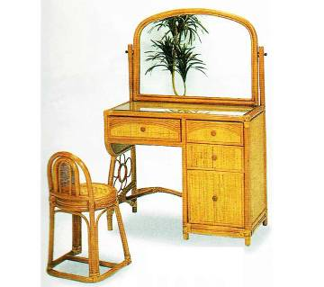 Cane Dressing Table with tool