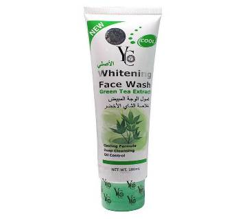 Yong Chin Whitening Face Wash With Green Tea Extract 100ml - Thailand