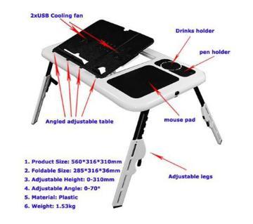 portable laptop e table