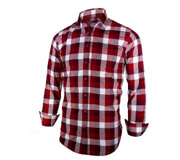 Gents Full-sleeve Cotton Check Shirt