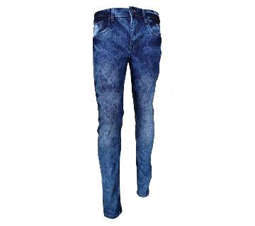 Gents Stretchable Acid Wash Semi Narrow Jeans Pant