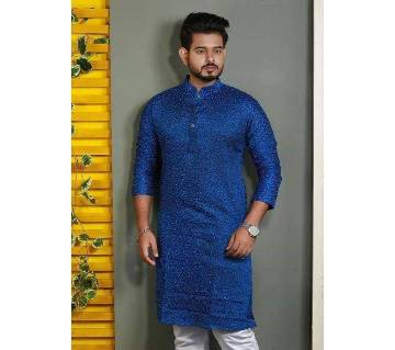 Cotton Semi Long Punjabi For Men